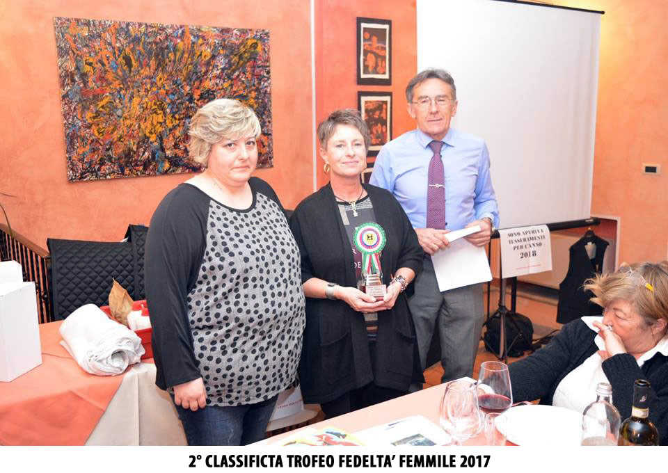 2 CLASSIFICTA TROFEO FEDELTA FEMMILE 2017